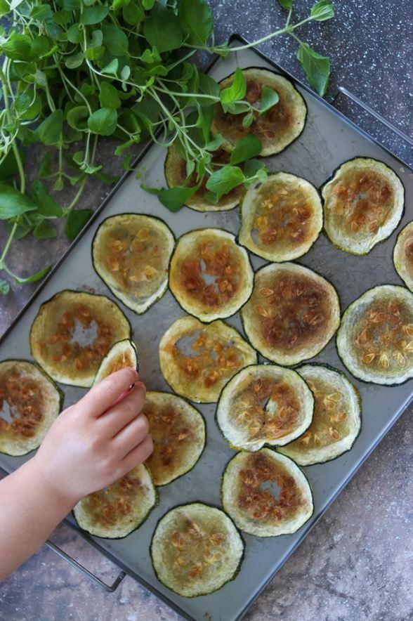 Zucchinichips + 12 st användningsområden