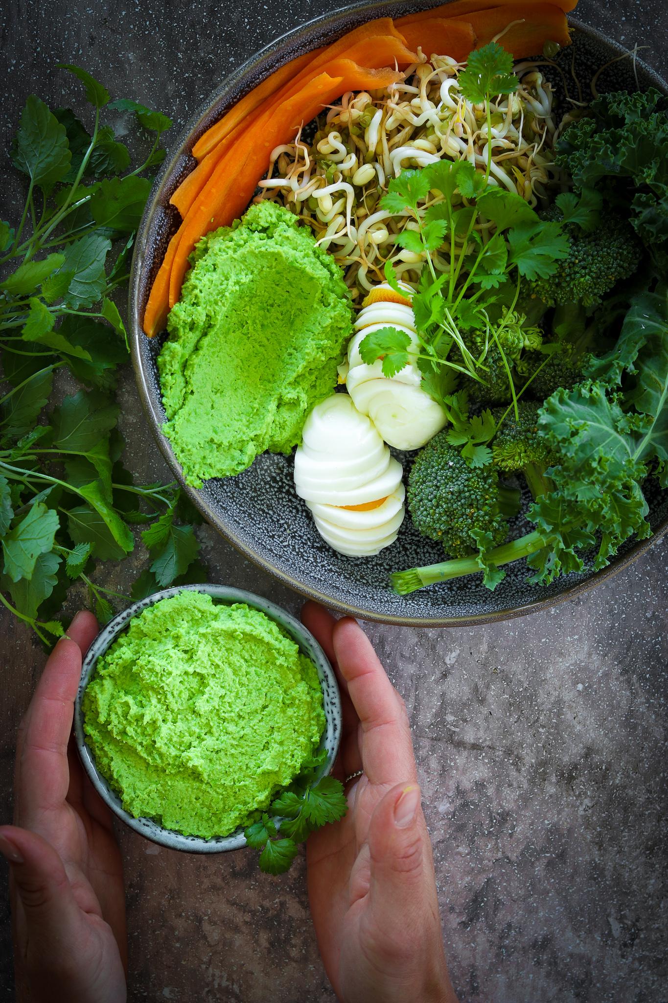 Hummus på gröna ärtor