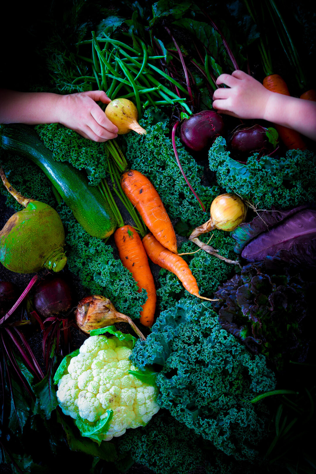 Grönsaker och barn