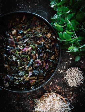 wok med svarta bonor