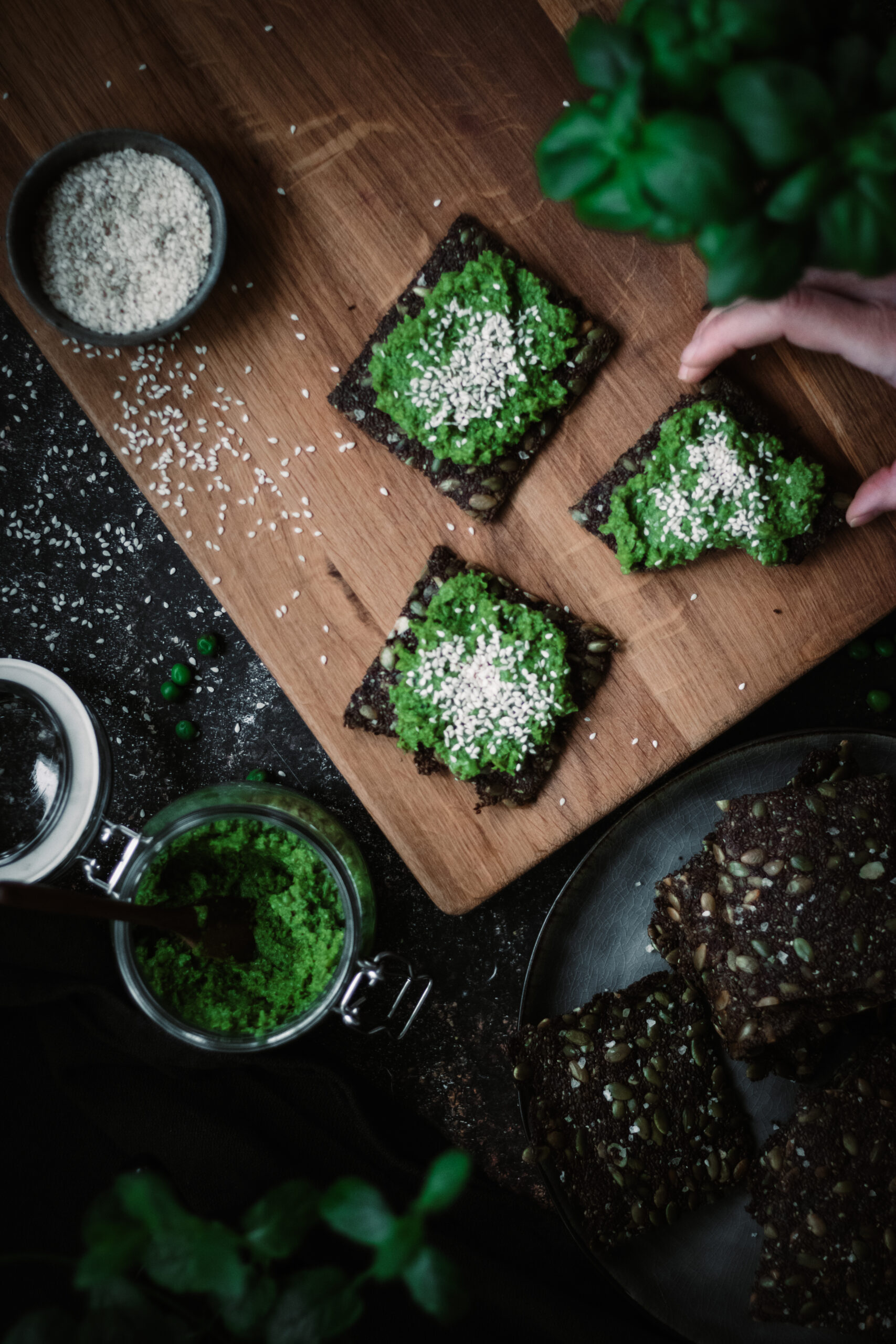 Grönt fröknäcke & grön ärthumms