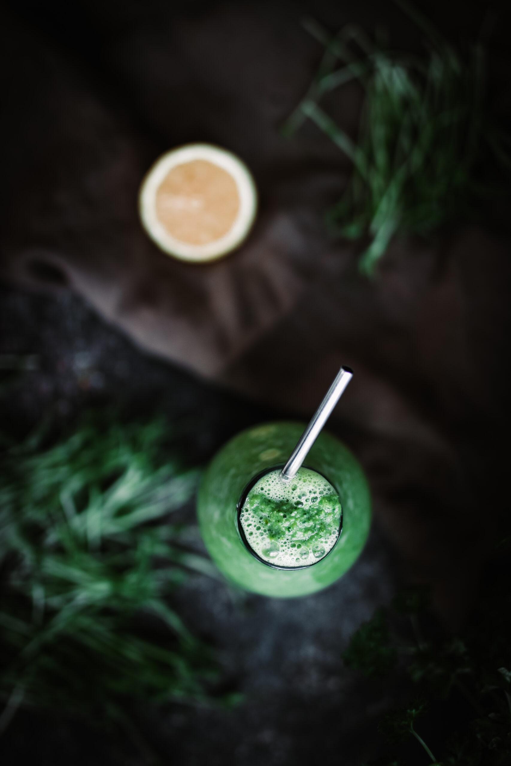 Grön ärtsmoothie