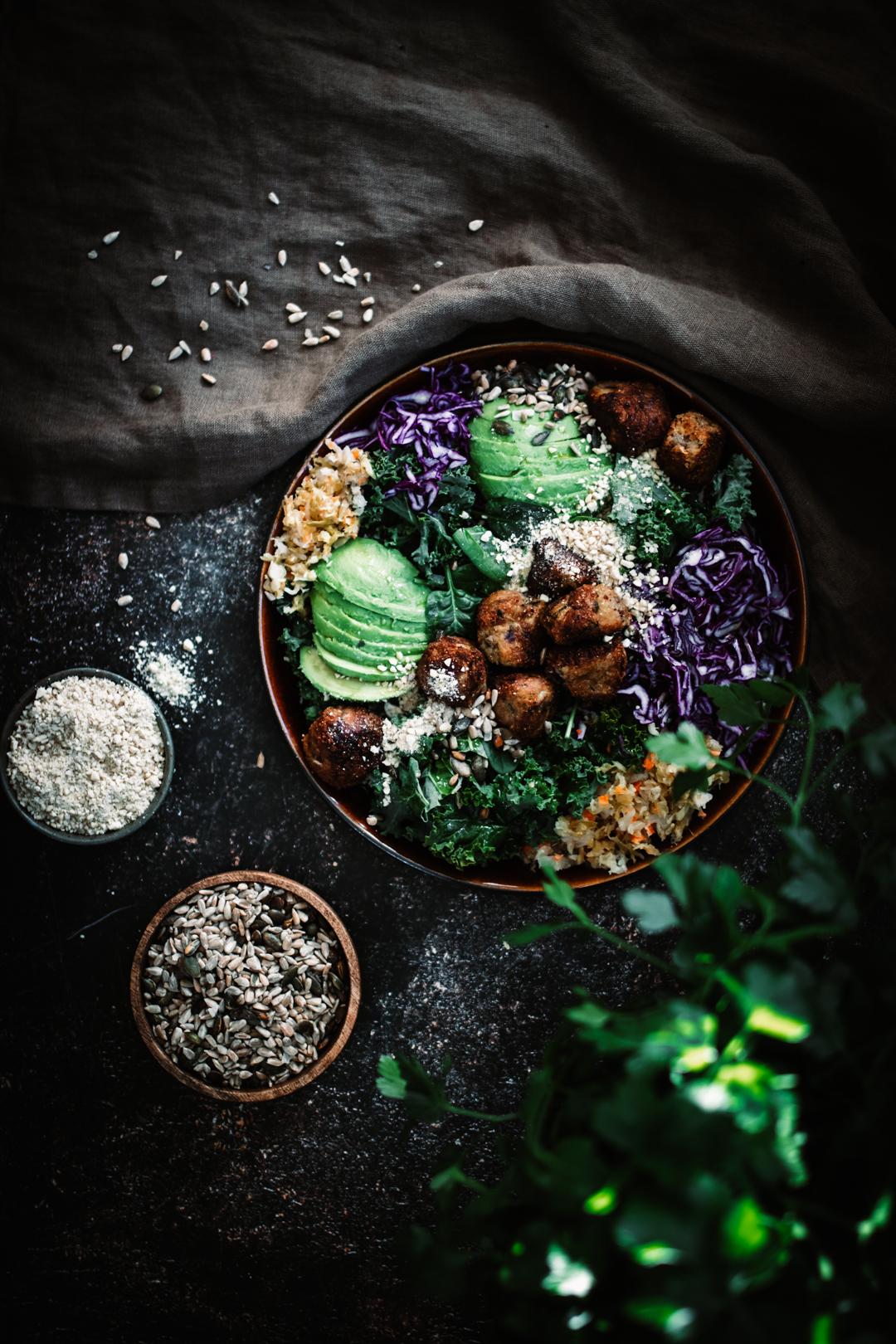 Växtbaserade zucchinibollar