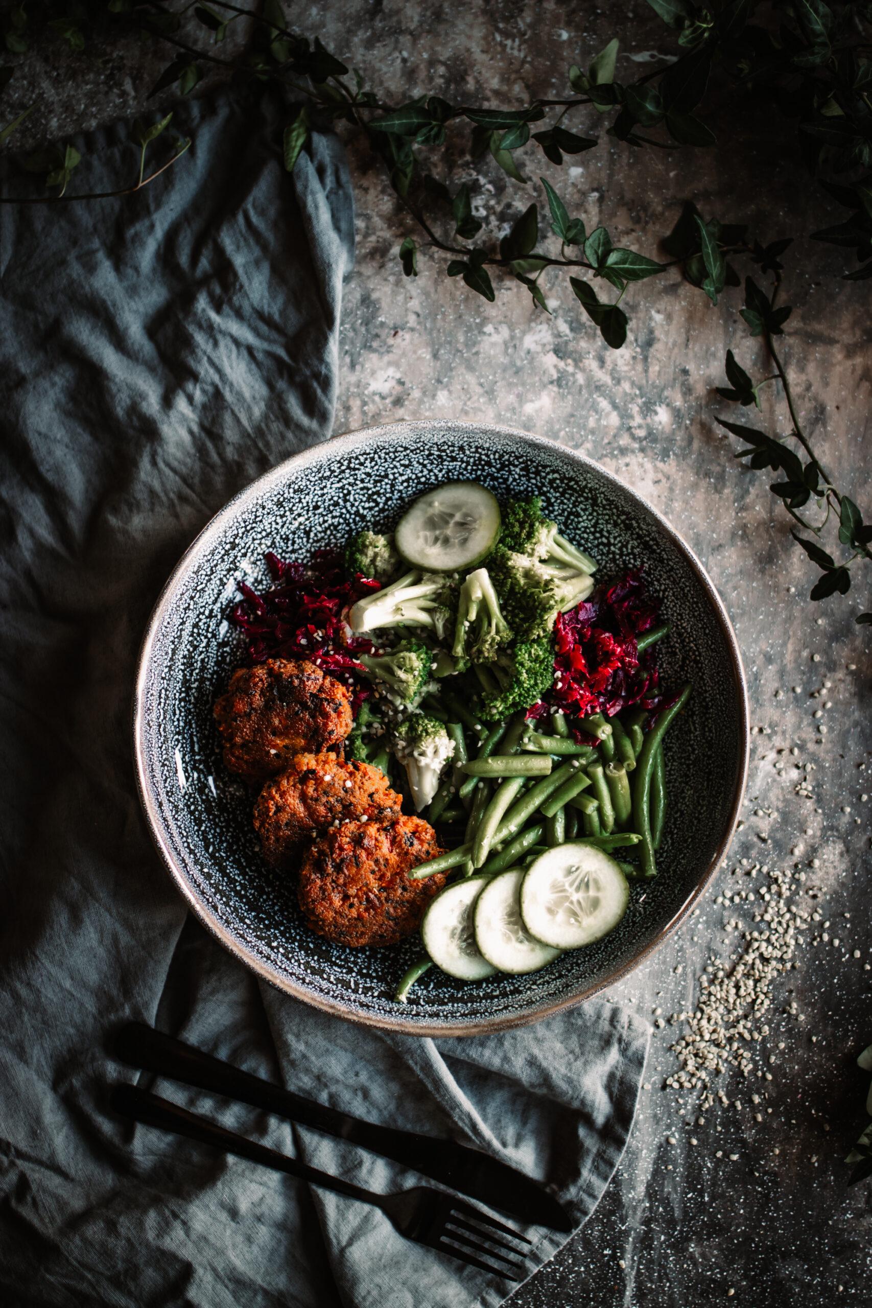 Biffar med röda linser & morötter
